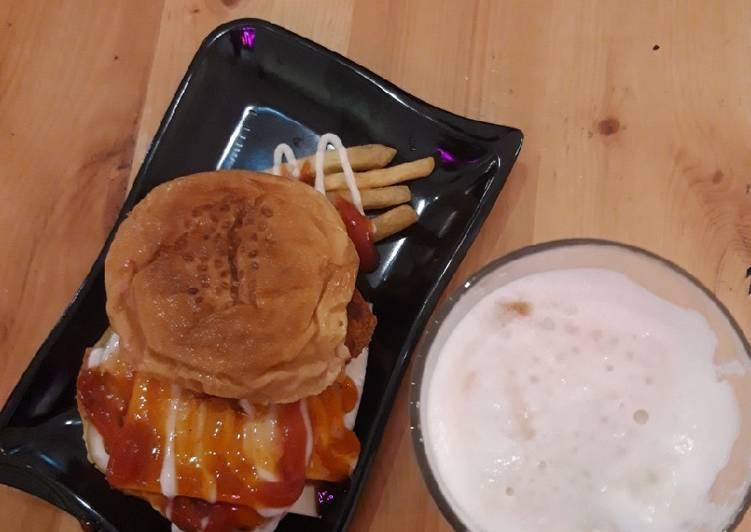 Burger dan kentang goreng