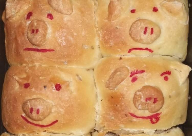 Pull apart pizza bread lucu metode autolyse