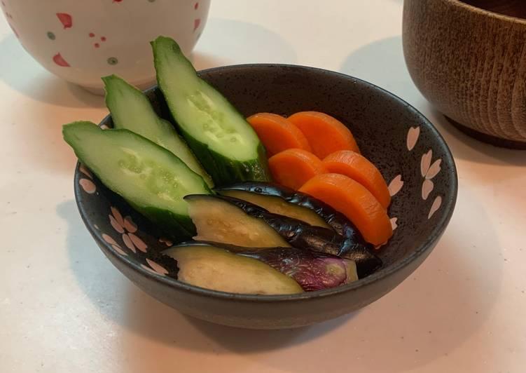 Acar fermentasi Jepang Nukazuke Kyuri, Wortel dan Terong