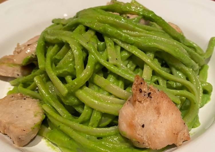 Simple Way to Prepare Favorite Chicken and spinach pesto linguine