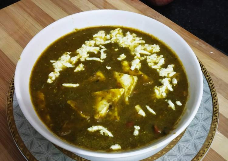 Recipe of Quick Dhaba Style Palak Paneer