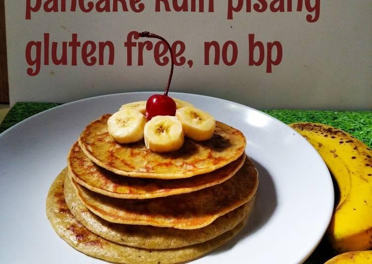 *pancake kulit pisang gluten free, no bp*