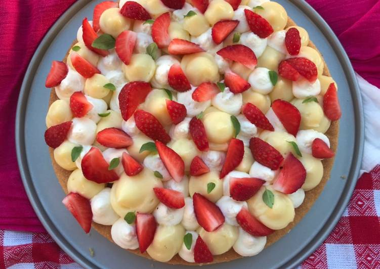 Recipe: Yummy Une summer tart 🍋🍓🌿