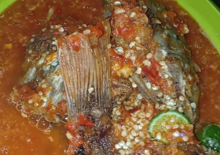 Pecak Ikan Nila merah ala Dapur Mimih