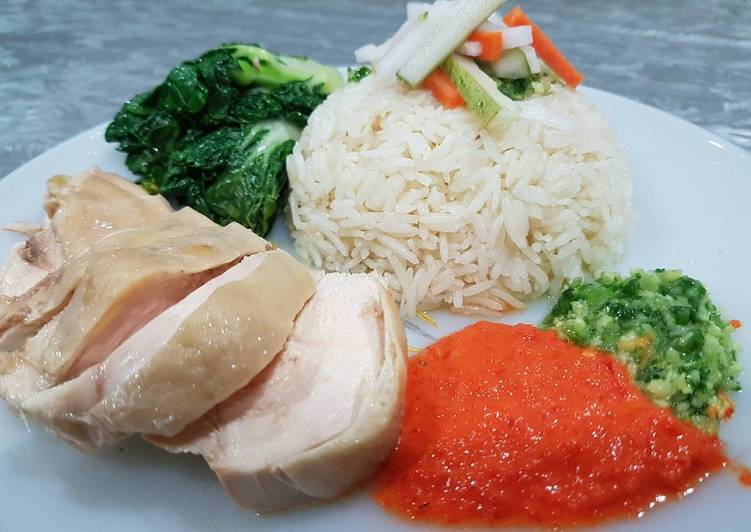 Hainan Chicken Rice (from scratch) - Laurie G Edwards