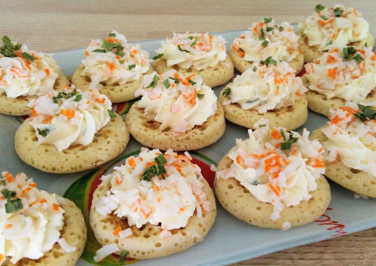 Blinis au surimi & fromage frais