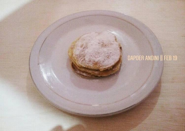 Resep Japanese Fluffy Pancake ala shelly Paling Mudah