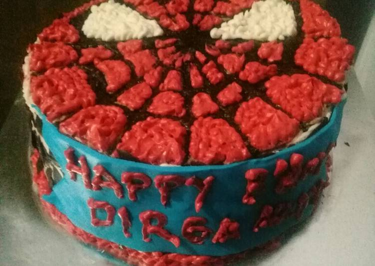 Resep Birthday Cake Karakter Spiderman Oleh Findha Mariyani Cookpad