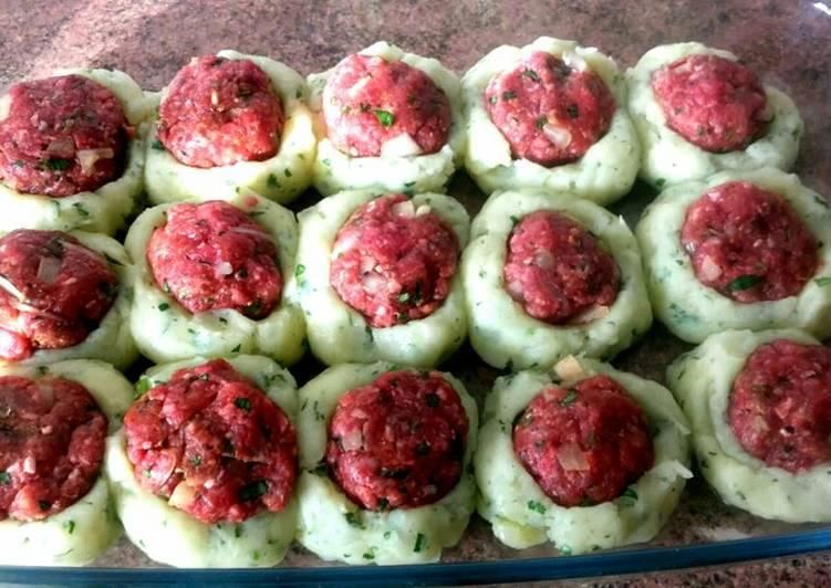 Bolas De Patata Rellenas Con Carne Picada Receta De Comida De Marruecos Con Hakima Cookpad