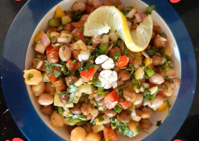 Steamed Healthy Chana Chaat