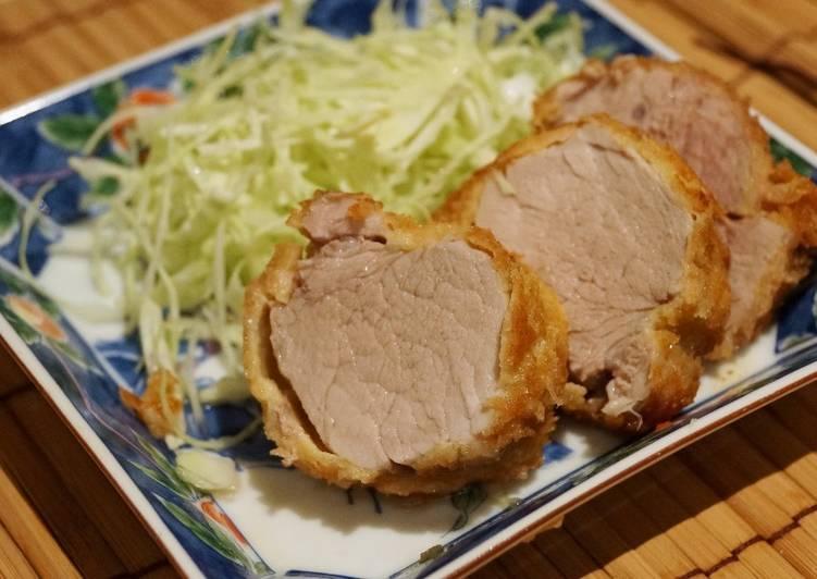 Low-Calorie Tonkatsu (Japanese style pork cutlet in bread crumbs)
