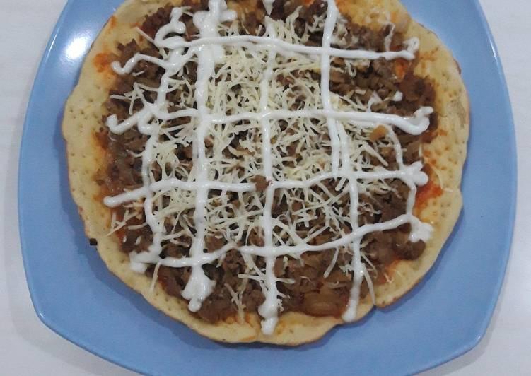 Cara Membuat Pizza teflon bahan sederhana