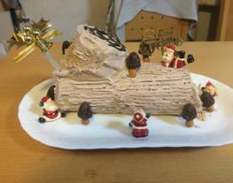 Tronco de Noel con galletas