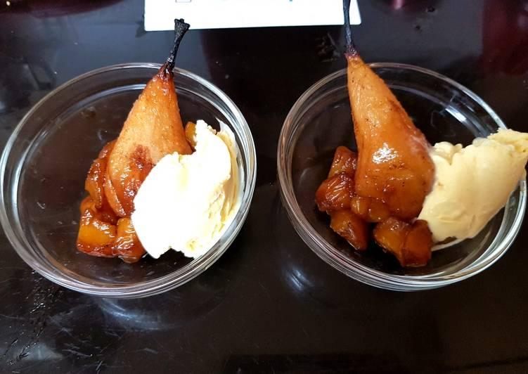 Recipe of Award-winning My Roast Pear,Mango & Rum flavoured Syrup