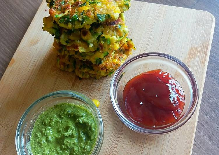 Simple Way to Make Speedy Zucchini corn fritters
