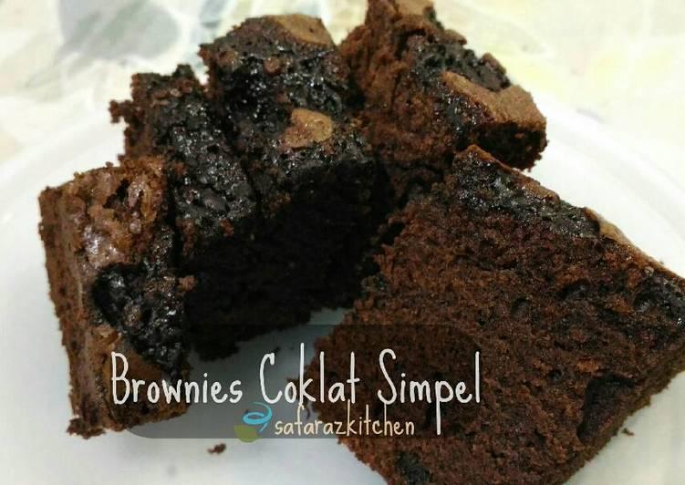 Brownies Coklat Simpel ~ klasik cakey texture, no bp 🍫🍰