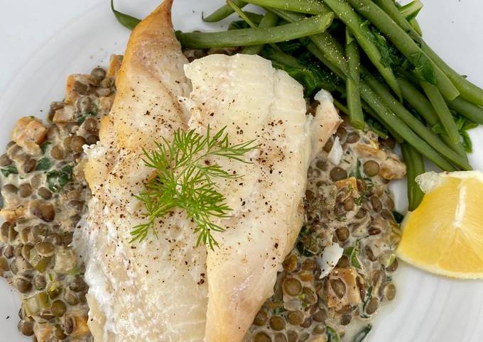 Smoked haddock & creamy Puy lentils with Dill #MyCookbook