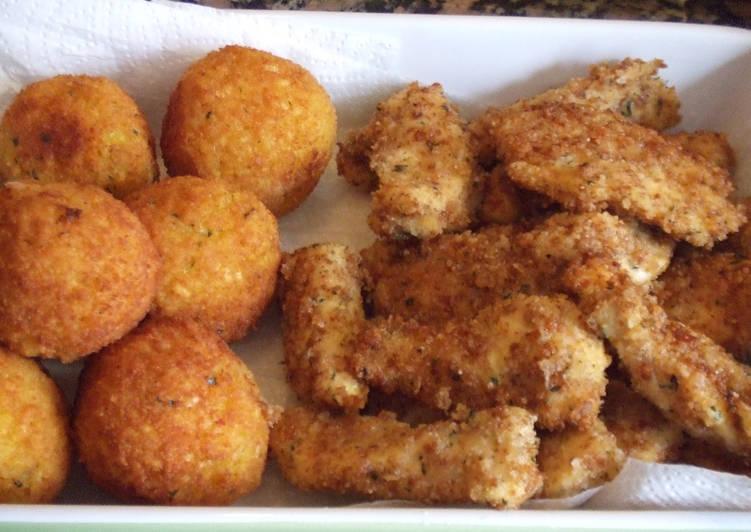 Palitos de pollo con cereales aptos para celíacos y alérgicos