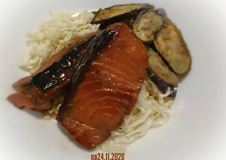 Simple salmon teriyaki