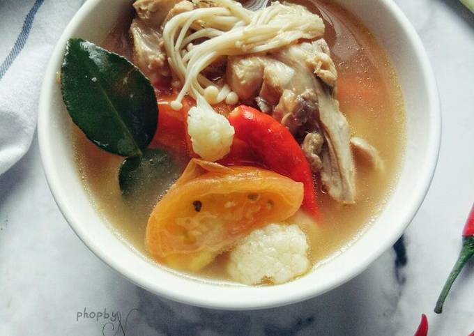 Tomyam Putih Ayam simple