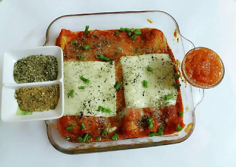 Oriental tomato sauce & enchiladas in 2 minutes of microwave.