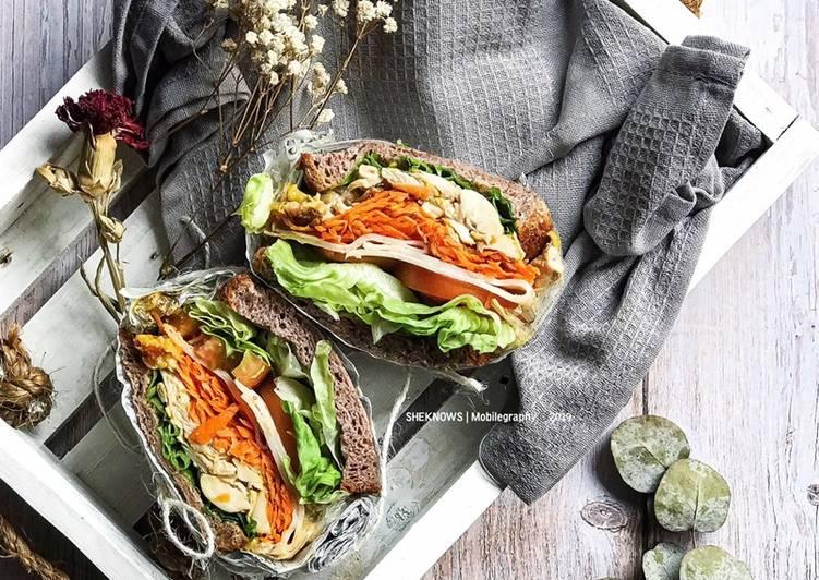 Wanpaku Sandwich - Chicken Version - velavinkabakery.com
