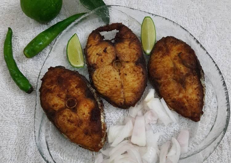 15 Minute Steps to Prepare Autumn Vanjaram Fish Fry