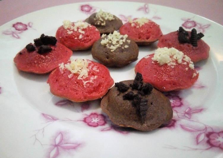 Resep Kue Cubit red velvet + Choco Anti Gagal
