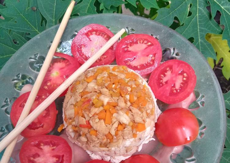 Mangkukan Tempe Tahu + Tumis Wortel Dada Ayam (Menu Diet)