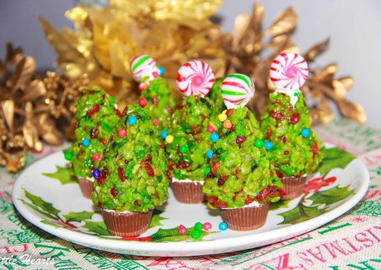 How to Make Ultimate Rice krispies Christmas Trees