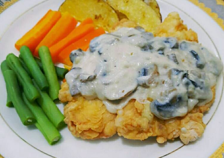 Chicken Steak with Mushroom Sauce