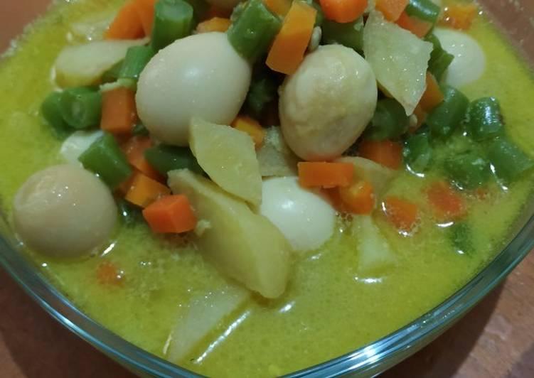 Sayur buncis wortel telor puyuh