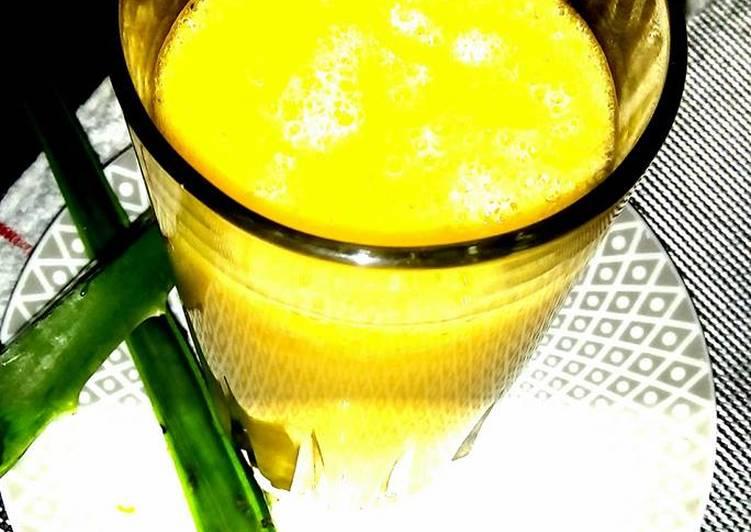 Licuado de papaya y guineo