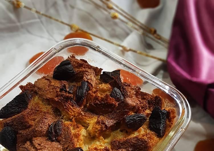 Recipe of Quick Coconut apricot bread pudding