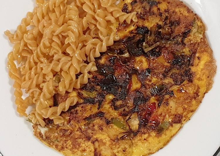 Omelette aux poivrons