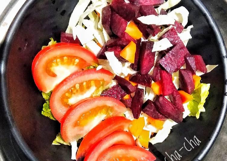 23). Beetroot, Lime, Peanut Sauce Salad (ala anak kos)