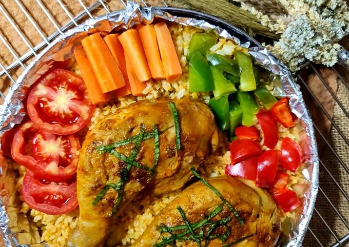 Ayam Panggang Nasi Rendang