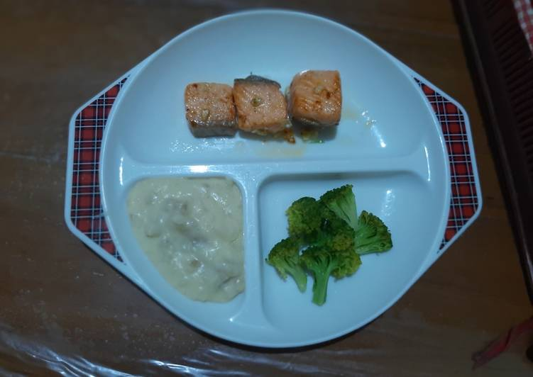 Resep Mashed potato and salmon grille Terenak