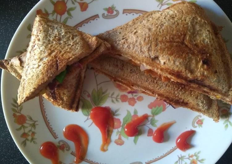 Recipe: Delicious Cheesy Pizza Sandwich