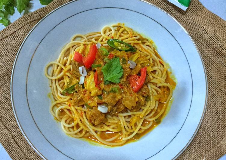 Spaghetti Tongseng Kambing