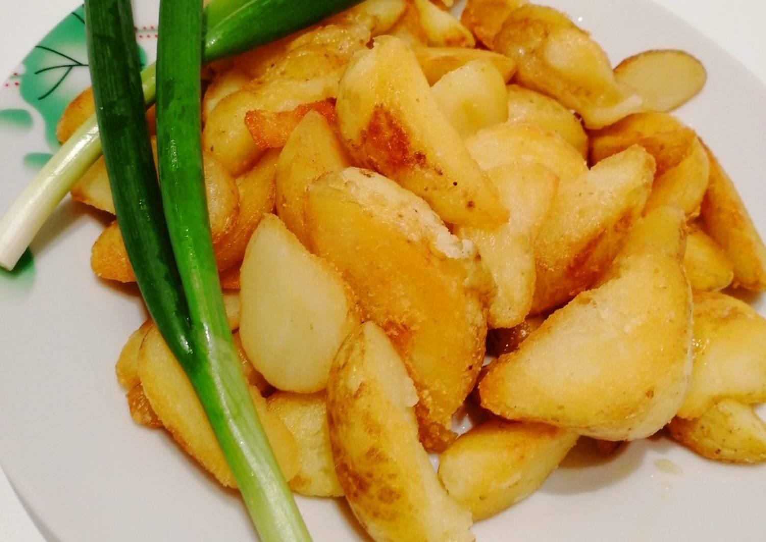 картофель по деревенски рецепт с фото пошагово