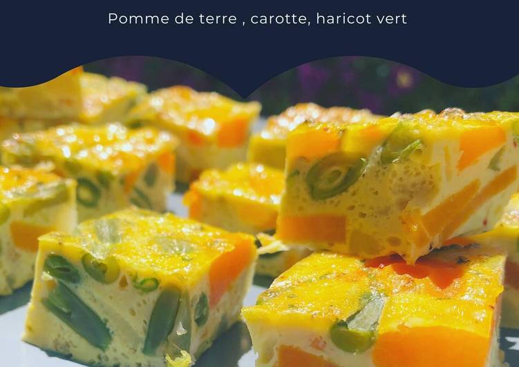 recette Tortillas pomme de terre, carotte, haricots verts délicieux