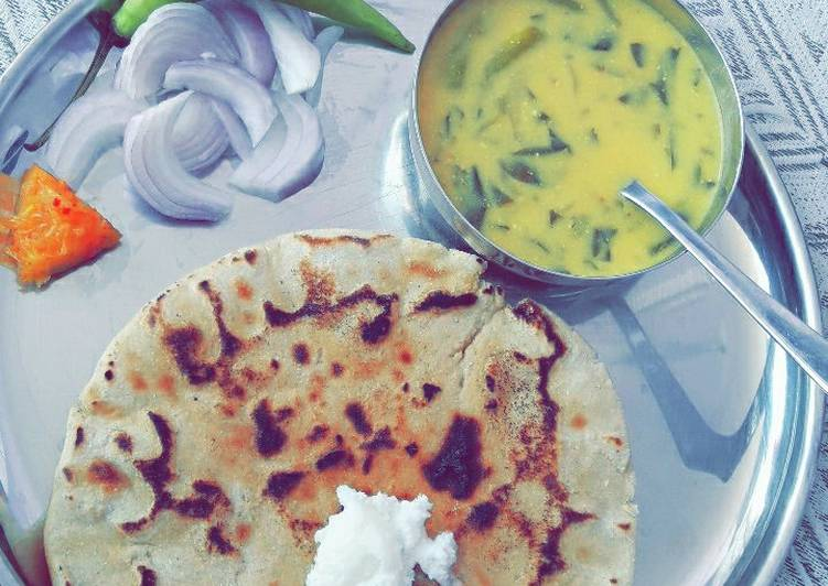 5 Minute Simple Way to Make Cooking Punjabi Platter/ Makki ki roti and Kadhi