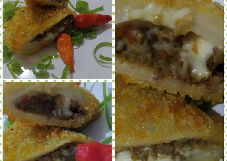 Beef cheese risoles