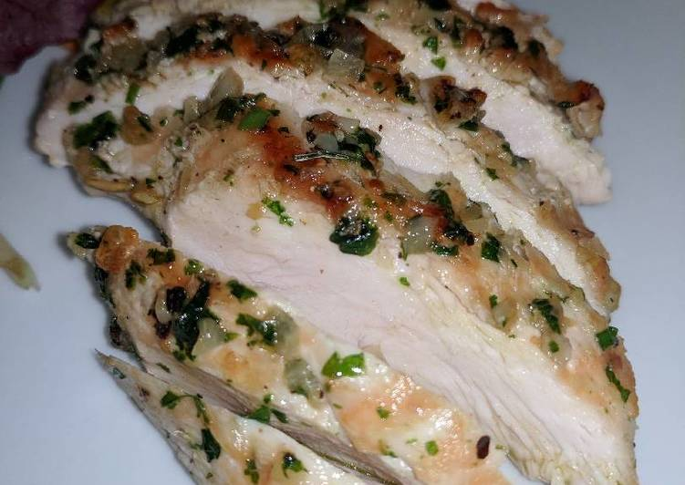 Recipe of Ultimate Grilled Chicken Breast w/ Garlic & Parsley