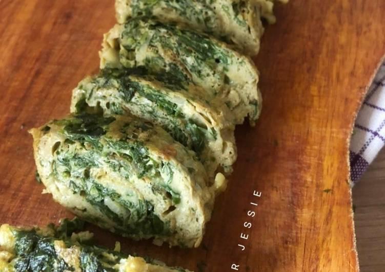 Spinach Egg Roll / Telur Gulung Bayam - cookandrecipe.com