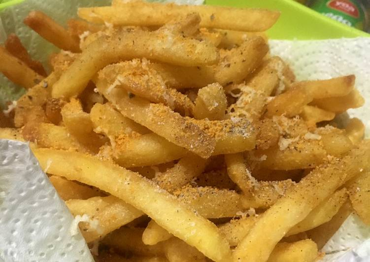 Cheese pepper french fries ala fe