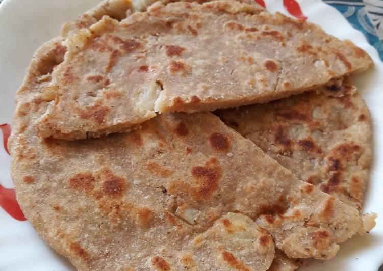 Old Fashioned Dinner Easy Speedy Masala Aloo Lachha Paratha