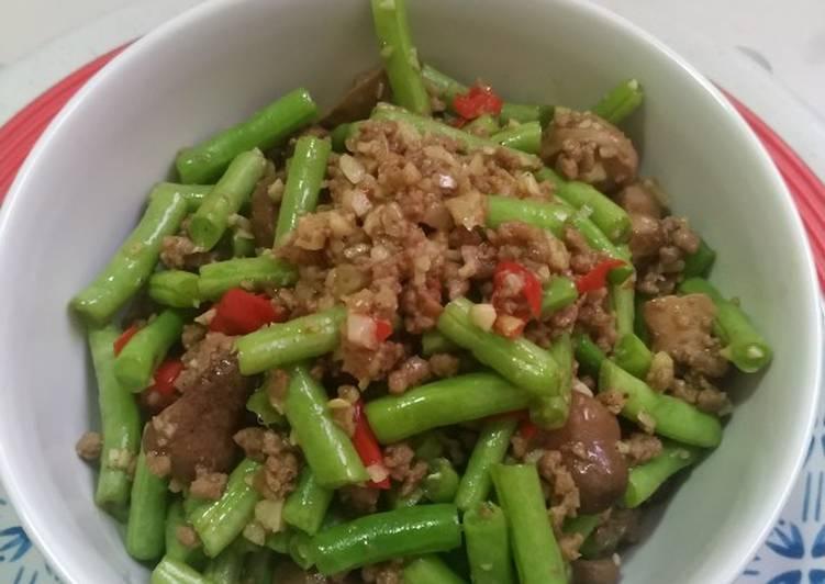 Tumis Buncis Daging Jamur