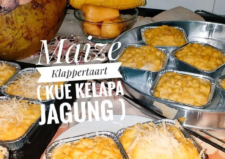 """Maize Klappertaart (Kue Kelapa Jagung)"""